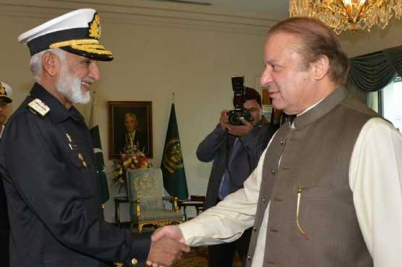 Naval Chief meets PM Nawaz, discusses national security issue