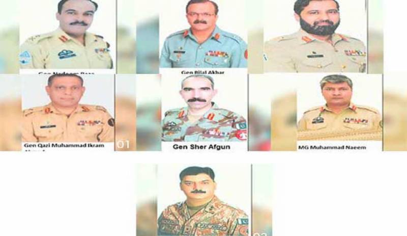 Seven Maj. Generals promoted to Lt General