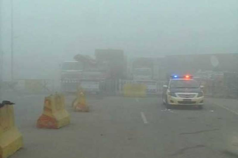 Dense fog covers Lahore, most parts of Punjab