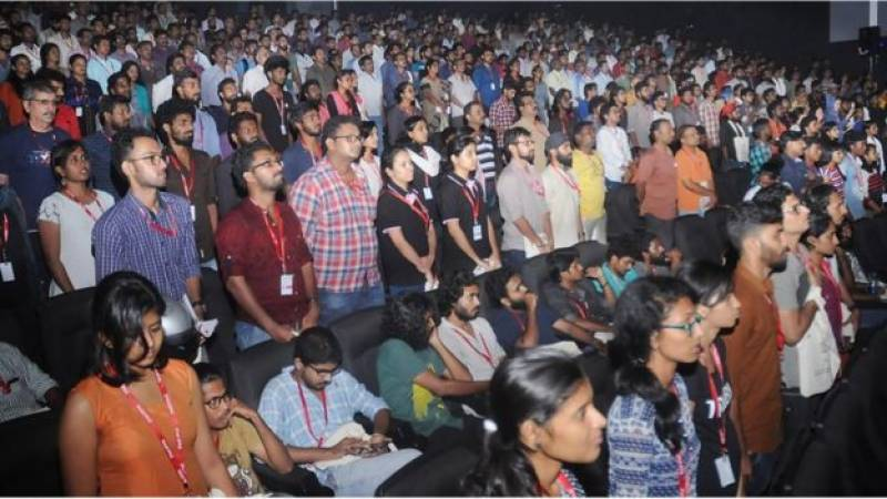 Twelve arrested for sitting during national anthem at Indian cinema