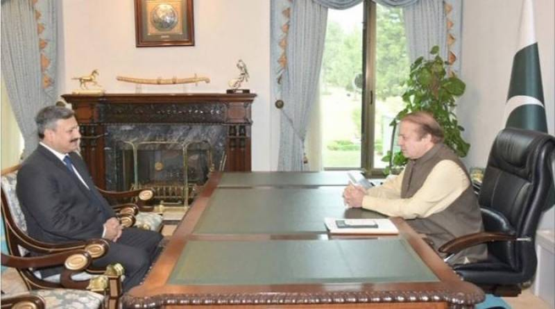 PM Nawaz holds farewell meeting with ISI DG Lt Gen Rizwan Akhtar