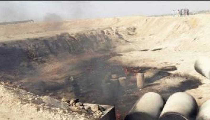 Ill-fated oil tanker caught fire on the Super Highway, 2 killed, 10 injured