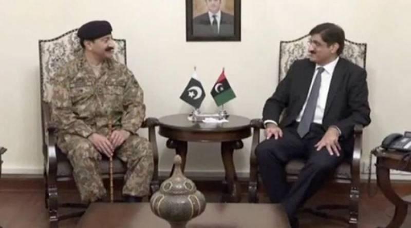 CM Sindh Murad meets Corps Commander Karachi