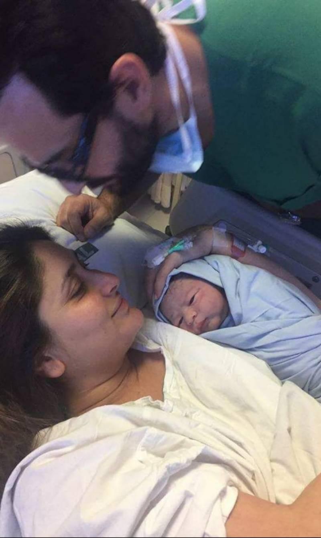 Pics: Saifeena, newborn Taimur in hospital