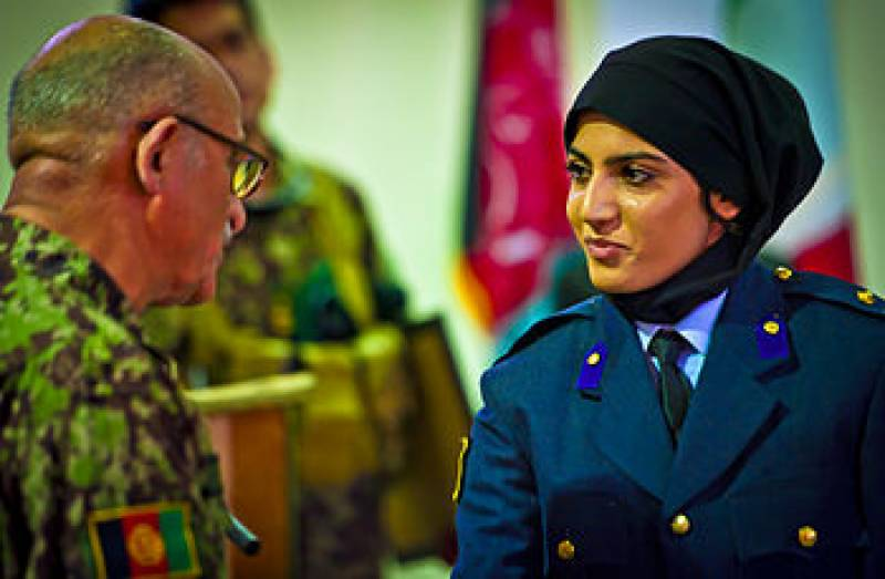 Afghans angry as their first female pilot bids for U.S asylum