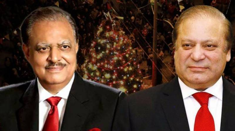 PM Sharif, President Mamnoon felicitates Christian community on Christmas