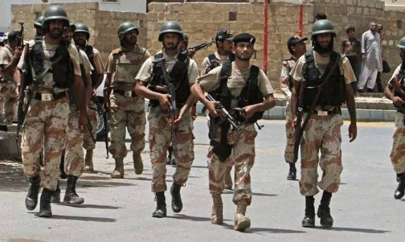 Rangers' raids in Karachi, 5 criminals detained