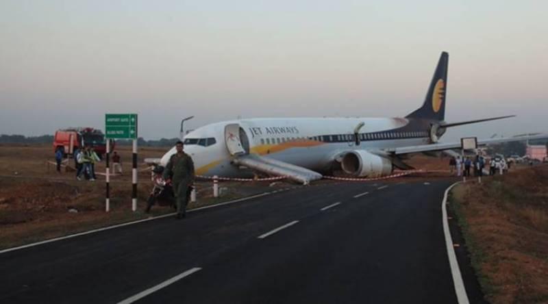 Indian jet skids off runway, leaves 15 injured