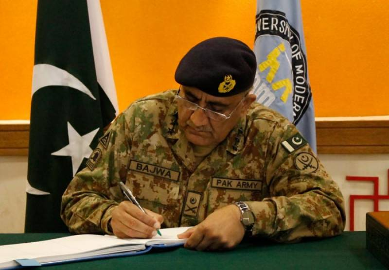 Army chief confirms death sentence of eight terrorists