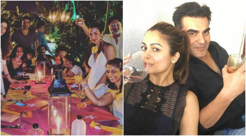 Arbaaz Khan and Malaika Arora celebrating New Year together (pics)