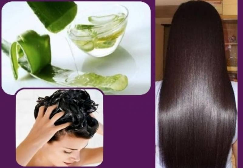 DIY Aloe Vera mask makes hair shinier, glossy