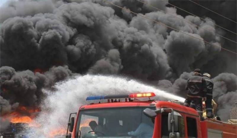 Fire gutted three shops in Multan