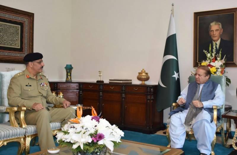 Gen. Zubair calls on PM Nawaz