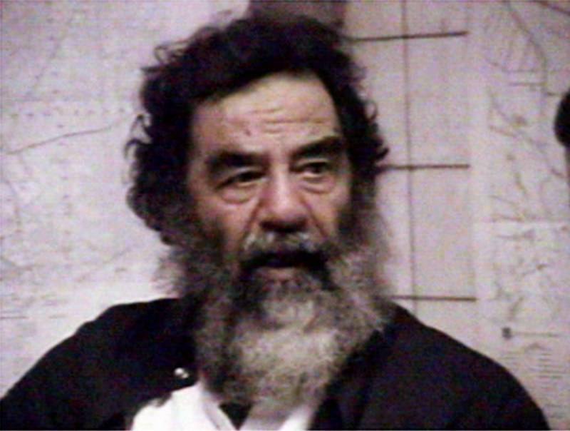 Saddam Hussein was