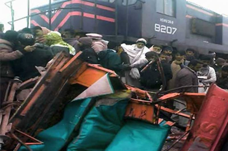 Six children died as train smashes into two rickshaws