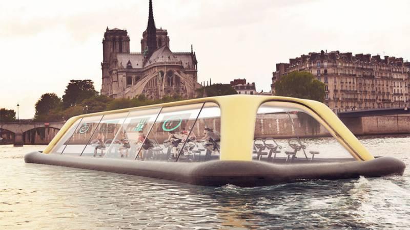 Beautiful Floating Gym in Paris