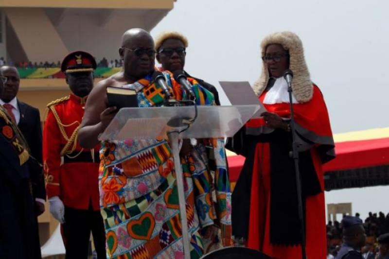 Nana Akufo-Addo takes oath as Ghana's president