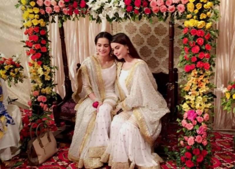 Simple Wedding Dresses Nz: Aiman Khan, Muneeb Butt 'Dholki' Ceremony (Pics