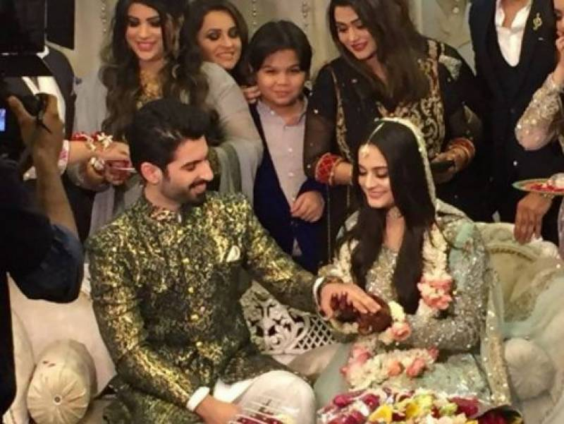 Aiman Khan & Muneeb Butt's engagement Ceremony (Pics)