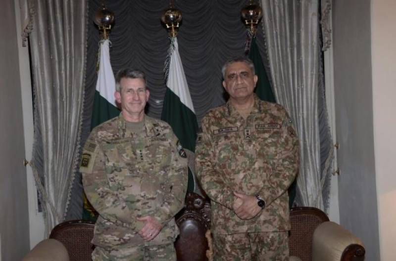 US Forces Commander Gen. Nicholson meets Pak Army Chief Gen. Qamar