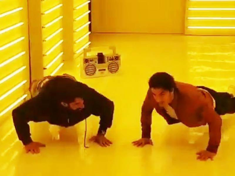 PSL fever: Ali Zafar, Misbah push-ups video went viral