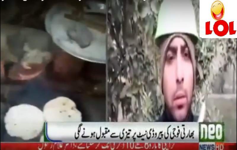Watch: Pakistani Mimicrying on Indian soldier who reveals shortage of food