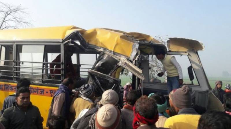 24 children dead as truck smashes school bus