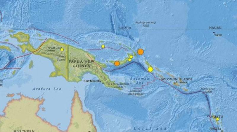 Strong earthquake hits Papua New Guinea