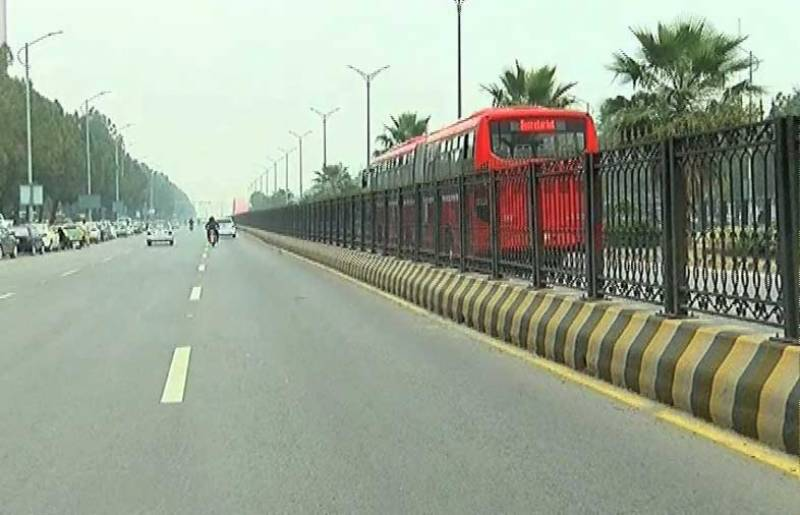 Pedestrians damage Metro bus fence