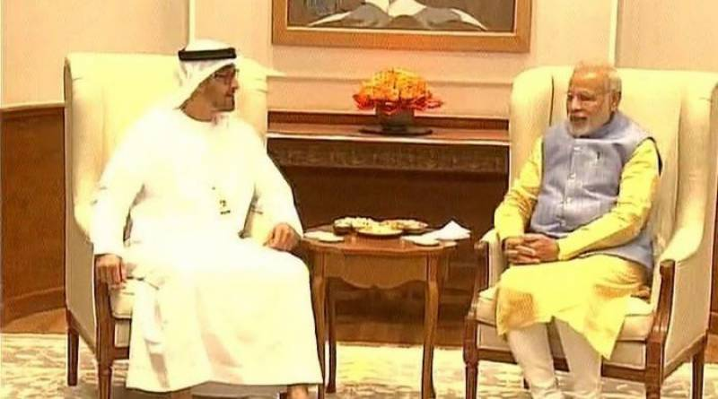 Abu Dhabi crown prince visits India, meets Modi