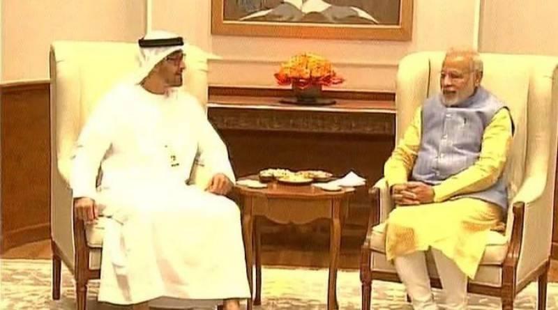 Abu Dhabi crown prince visits India, meets Modi