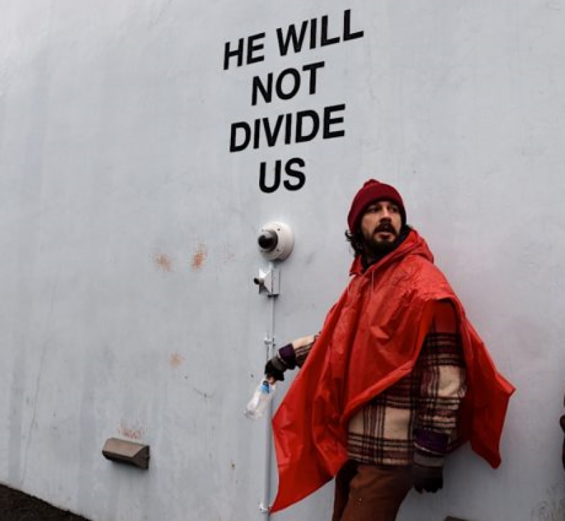 Actor Shia LaBeouf detained for anti-Trump protest outside NY museum