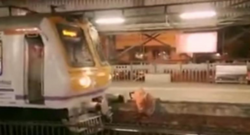 Indian train driver stops train in the nick of time to save elderly lady
