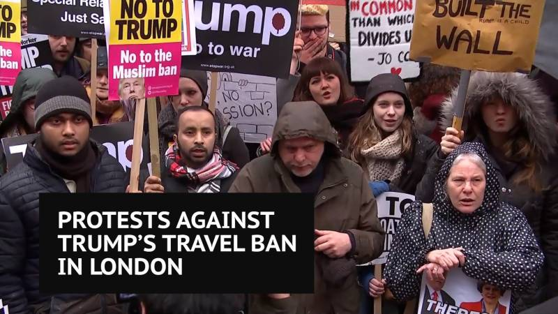 US, European roads flooded with protesters denouncing Trump's travel ban