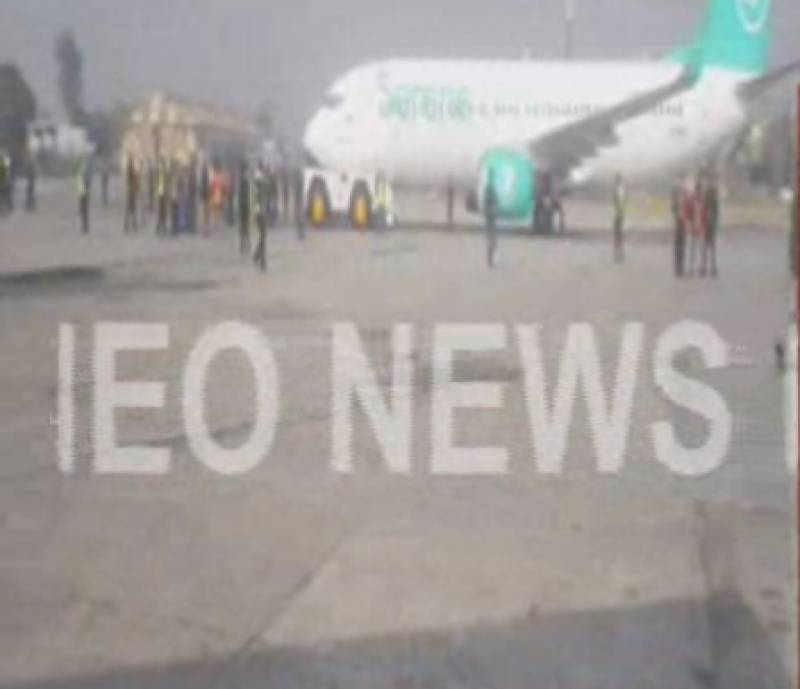 Plane slipped at Benazir Bhutto International Airport