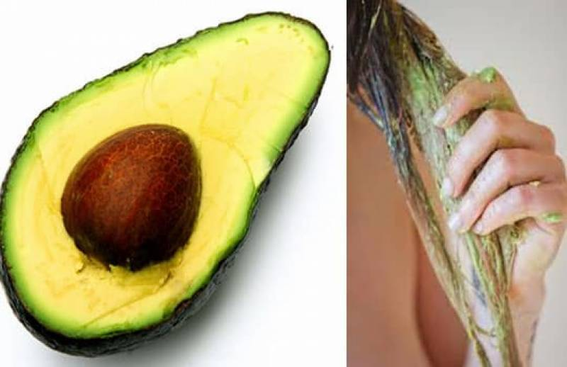 Repair damaged hair with an avocado