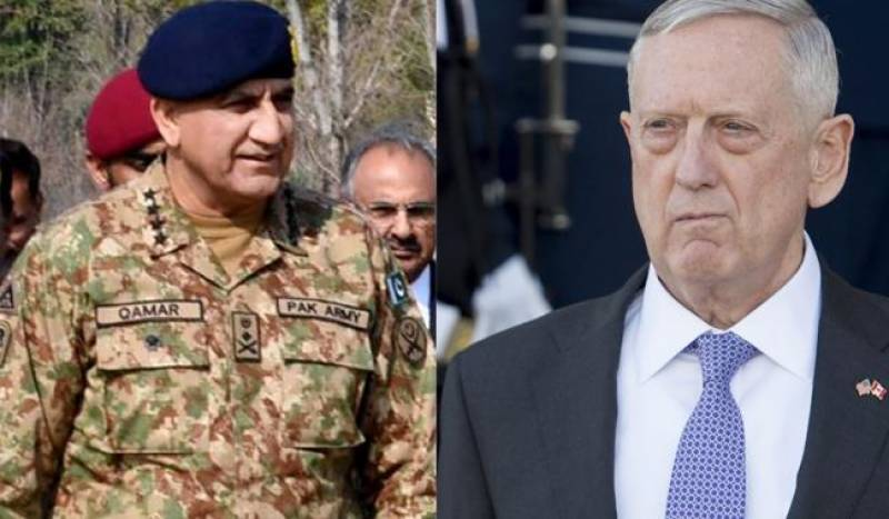 US defence secretary appreciates Pak Army's role against terrorism