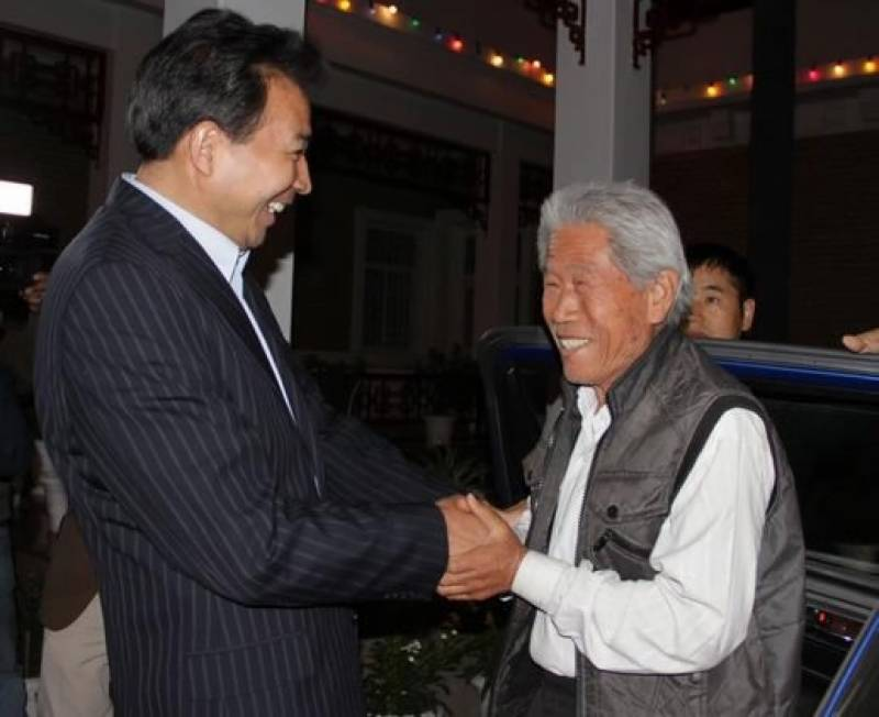 78 Years old Chinese veteran trapped in India since 1963 returned and welcomed