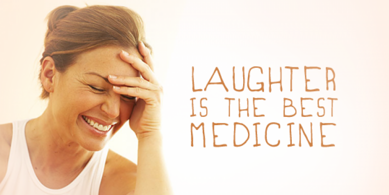 People use laughter as therapy to release stress