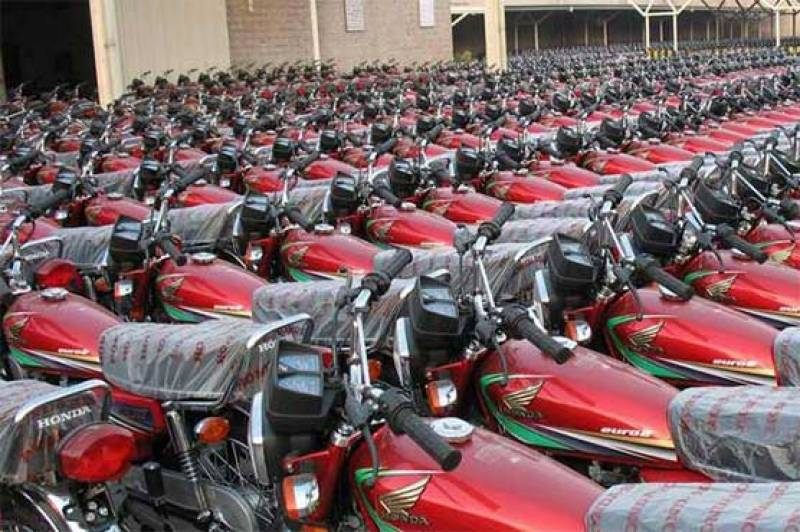 Motorbikes worth Rs 38b sold in 7th months