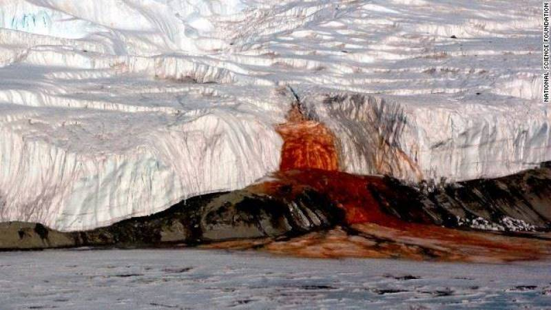 This isn't a Lava eruption or a whale, it's water lake