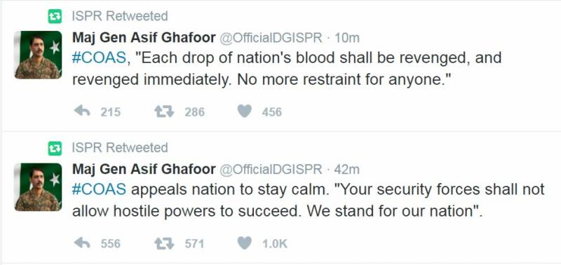 ISPR declares revenge on terrorists