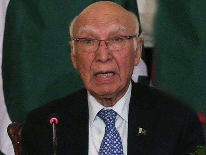 Afghanistan should eliminate TPP faction's safe heaven,Sartaj Aziz