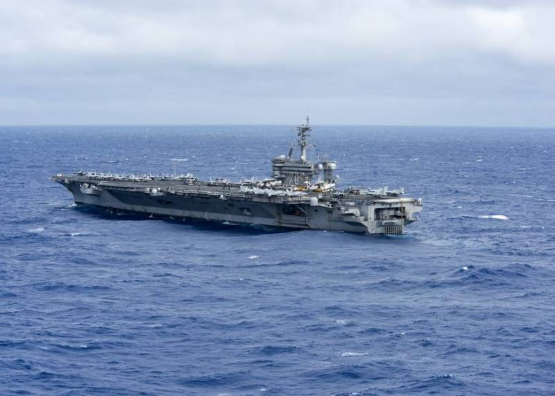 U.S. aircraft carrier group patrols in tense South China Sea