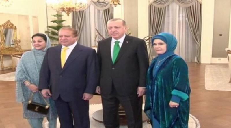 Erdogan hosts family dinner for PM Nawaz