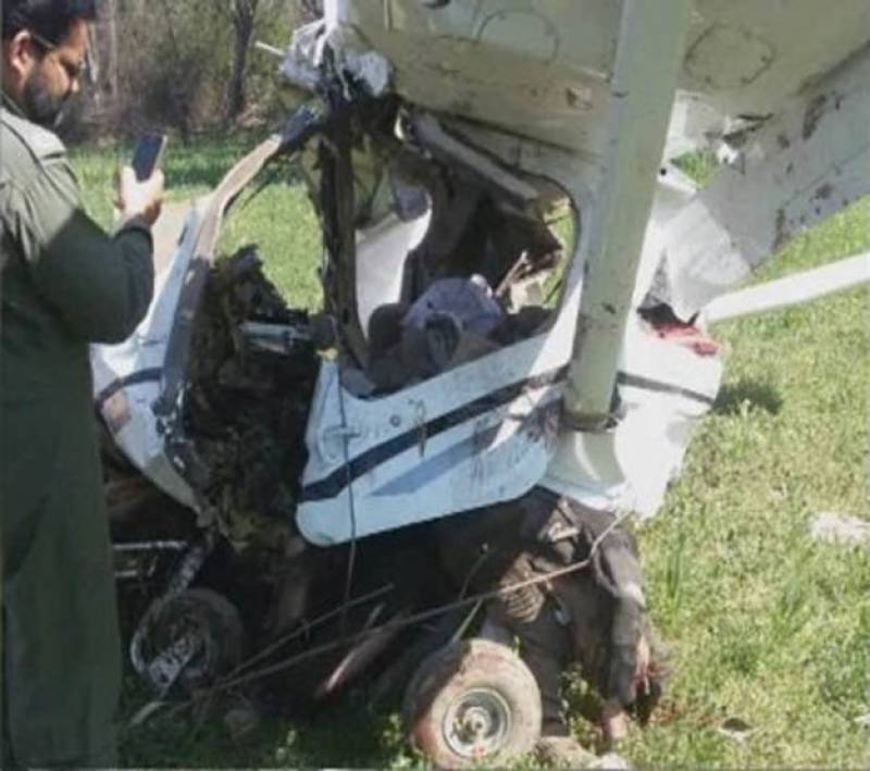 Training plane crashes in Faisalabad, kills two