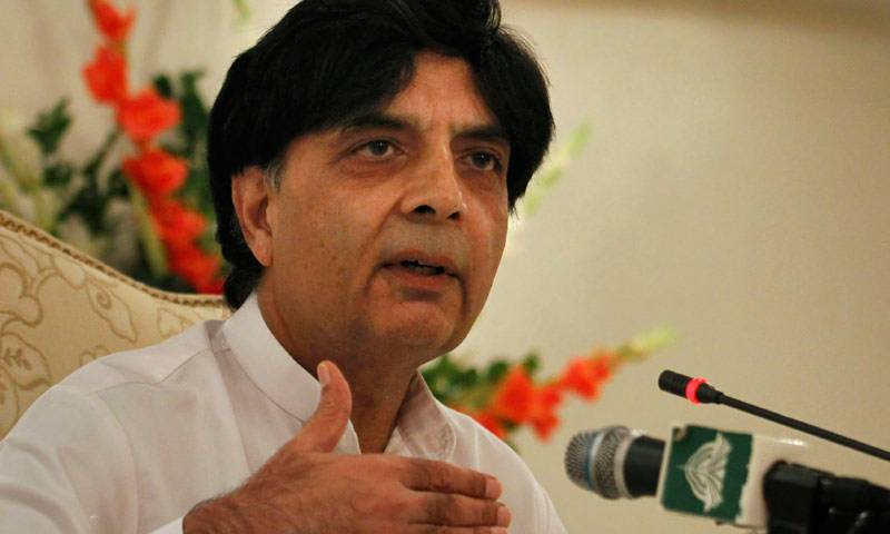 Nisar urges nation not malign war on terrorism with politics