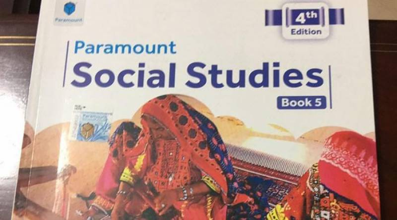 5th grade book mentioned AJK as 'Pakistan Occupied Kashmir'