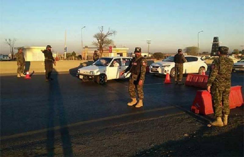Radd-ul-Fasaad: Forces establish checkpoints on motorway