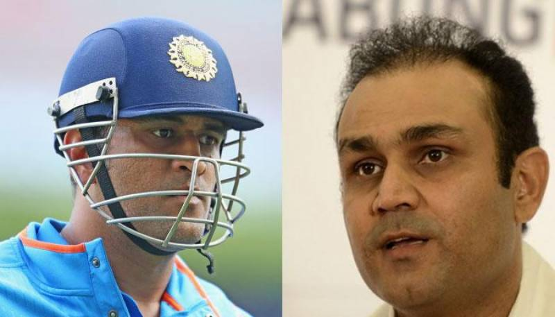 Virender Sehwag trolled MS Dhoni during the first Test match